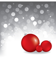 christmas greeting card with red balls vector image
