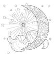 Christmas half moon with stars vector image