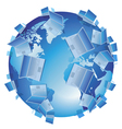 Computer World isolated vector image