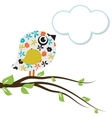 Cute beautiful bird for your design watercolor vector image