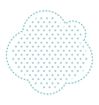 Dotted silhouette cloud callout of thought vector image