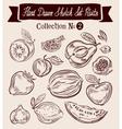 Fruit Hand-drawn Doodle set vector image