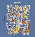 giraffes sticker set for your design vector image