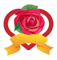 heart and rose vector image