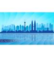 Kuala Lumpur city skyline detailed silhouette vector image