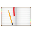 opened notebook vector image