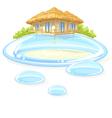 water bungalow vector image