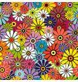 motley floral pattern vector image vector image