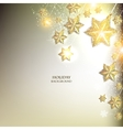 Elegant Christmas background with stars garland vector image vector image