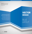 Blue Layout vector image vector image