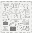 Business Vintage Black Hand Sketched Icons vector image