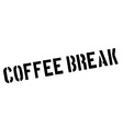 Coffee break black rubber stamp on white vector image