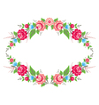 Colorful floral frame vector image