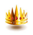 crown with sharp teeth isolated on white vector image
