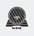 dark wine barrel icon vector image
