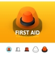 First aid icon in different style vector image