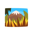 mountains in sunny day beautiful summer landscape vector image