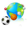 sports globe world concept vector image