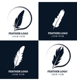 Feather elegant pen law firm lawyer writer vector image vector image