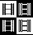 reel of film sign  black and white icons vector image