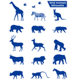 Wild Animals Silhouette vector image vector image
