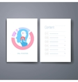 Modern re-targeting and mind flat icons cards vector image