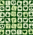 Seamless pattern of green tea puzzle vector image