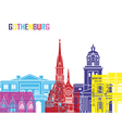 Gothenburg skyline pop vector image