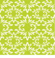 seamless background Green wallpaper with white vector image vector image