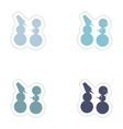 Set of paper stickers on white background Funny vector image