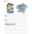 Alphabet worksheet vector image