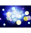 Bright abstract lights bokeh background vector image