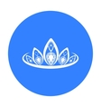 Diadem icon in black style isolated on white vector image