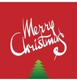 Merry Christmas hand lettering - calligraphy vector image