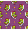 seamless pattern with baby car seat vector image