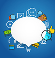 Speech cloud template with different icons Add vector image