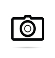 camera black icon on white background vector image