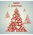Christmas tree applique background vector image vector image