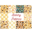 Bakery seamless pattern backgrounds vector image vector image