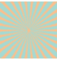 Blue orange sunburst starburst with ray of light vector image