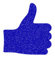 thumb up icon grunge watermark vector image