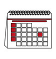 color contour cartoon calendar with indicated day vector image