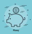 piggy bank design vector image