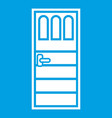 wooden door with three glasses icon white vector image vector image