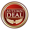 Autumn Deal Vintage Label vector image vector image