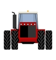 Big red tractor vector image