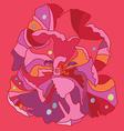 Fantasy tulip print vector image