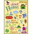 Planet home doodle set vector image vector image