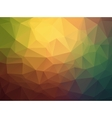 Triangle retro colorful background vector image