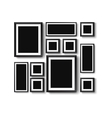 set of picture frames vector image vector image